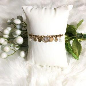 Dainty Gold Diamond Shiny Bling Bracelet